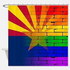 Gay Rainbow Wall Arizona Flag Shower Curtain