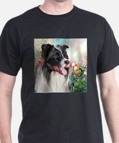 Border Collie Painting T-Shirt