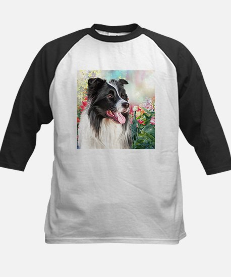 Border Collie Painting Baseball Jersey