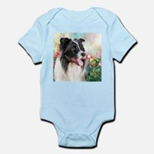 Border Collie Painting Body Suit