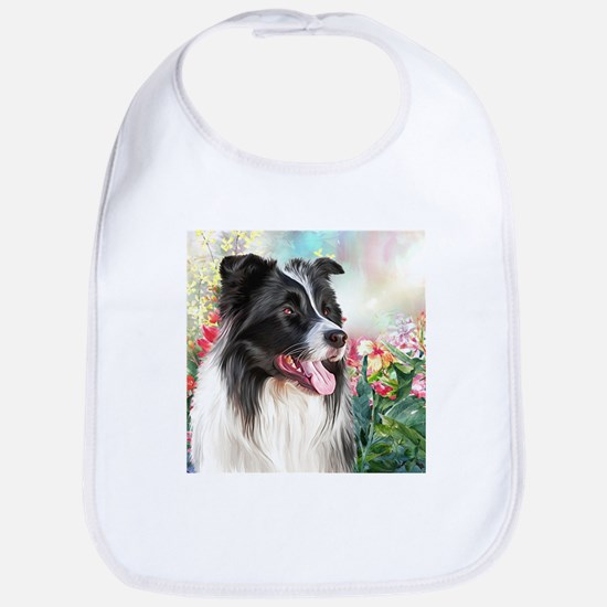 Border Collie Painting Bib