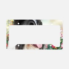 Border Collie Painting License Plate Holder