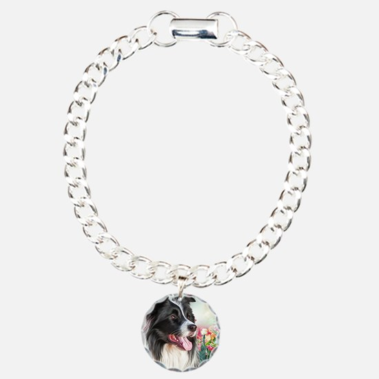 Border Collie Painting Bracelet