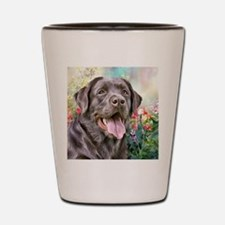 Labrador Painting Shot Glass