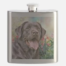 Labrador Painting Flask