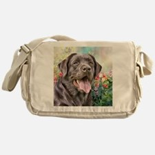 Labrador Painting Messenger Bag