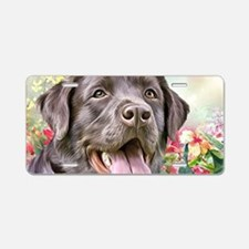 Labrador Painting Aluminum License Plate