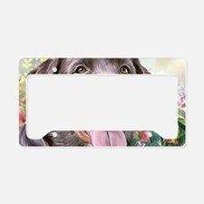 Labrador Painting License Plate Holder