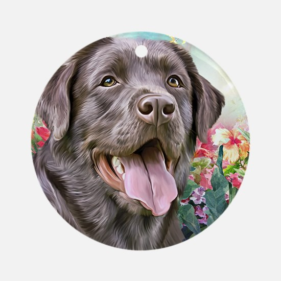 Labrador Painting Round Ornament