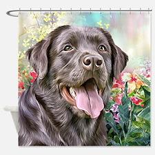 Labrador Painting Shower Curtain