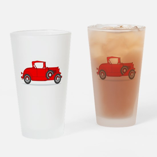 Early Motor Car Drinking Glass