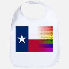 Gay Rainbow Wall Texan Flag Bib