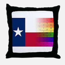 Gay Rainbow Wall Texan Flag Throw Pillow