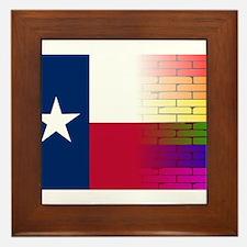 Gay Rainbow Wall Texan Flag Framed Tile