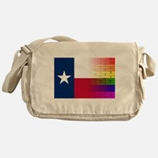 Gay Rainbow Wall Texan Flag Messenger Bag