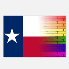 Gay Rainbow Wall Texan Fl Postcards (Package of 8)