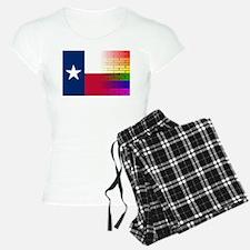 Gay Rainbow Wall Texan Flag Pajamas
