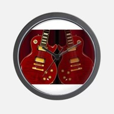 Classic Guitar Reflections Wall Clock