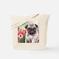 Pug Painting Tote Bag