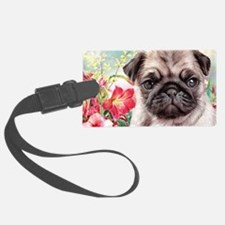 Pug Painting Luggage Tag
