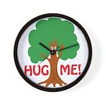 Earth Day : Tree Hugger, Hug me! Wall Clock