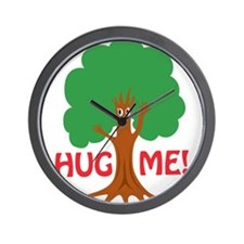 Earth Day : Tree Hugger, Hug me! Wall Clock