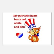 My Patriotic Heart Postcards (Package of 8)
