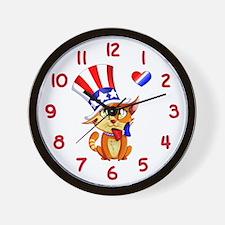 My Patriotic Heart Wall Clock