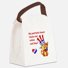 My Patriotic Heart- Canvas Lunch Bag