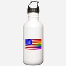 Gay Rainbow Wall Ameri Water Bottle