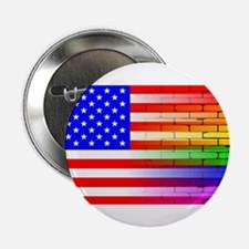 """Gay Rainbow Wall American F 2.25"""" Button (10 pack)"""
