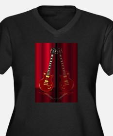 Red Guitar Reflections Plus Size T-Shirt
