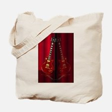 Red Guitar Reflections Tote Bag