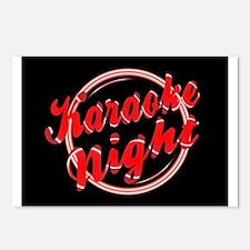 Karaoke Night Florescent Postcards (Package of 8)