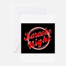 Karaoke Night Florescent Light Greeting Cards