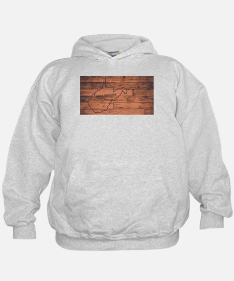West Virginia Map Brand Hoody