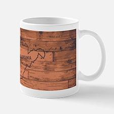 West Virginia Map Brand Mugs