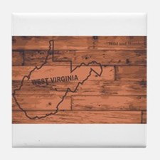 West Virginia Map Brand Tile Coaster