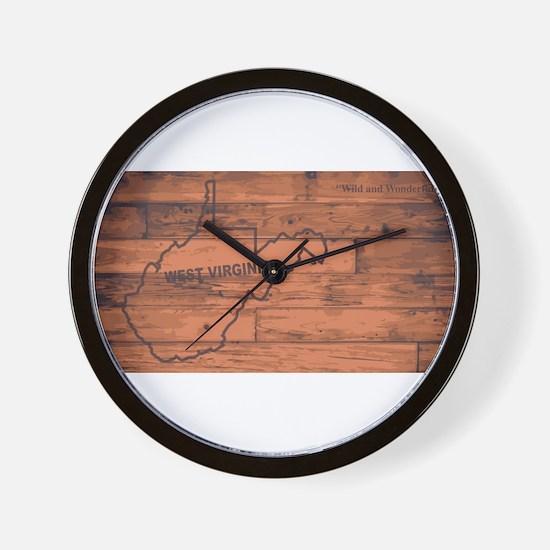 West Virginia Map Brand Wall Clock