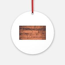 Washington DC Map Brand Round Ornament