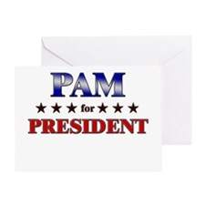 PAM for president Greeting Card