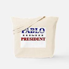 PABLO for president Tote Bag