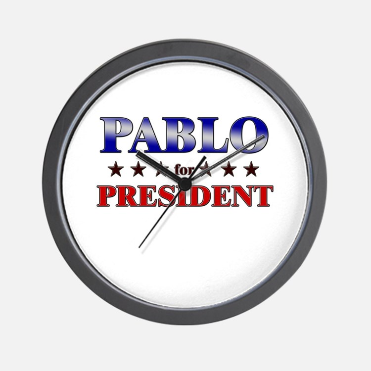 PABLO for president Wall Clock