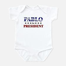 PABLO for president Infant Bodysuit