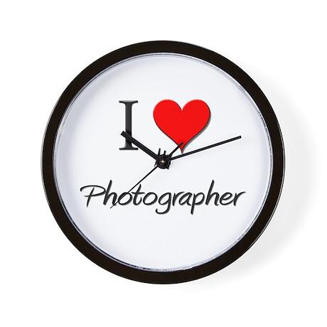 I Love My Photographer Wall Clock