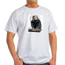 Marmoset Monkey Ash Grey T-Shirt