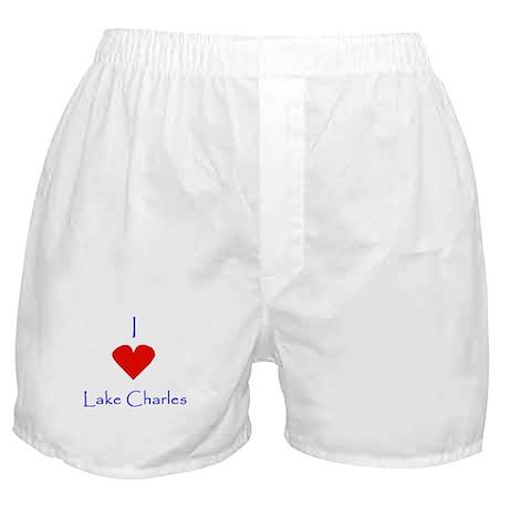 I love Lake Charles Boxer Shorts