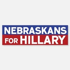 Nebraskans for Hillary Bumper Bumper Bumper Sticker