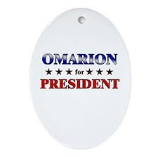 OMARION for president Oval Ornament