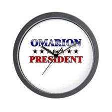 OMARION for president Wall Clock